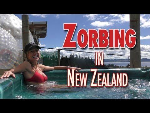 Zorbing in New Zealand!  So Fun!