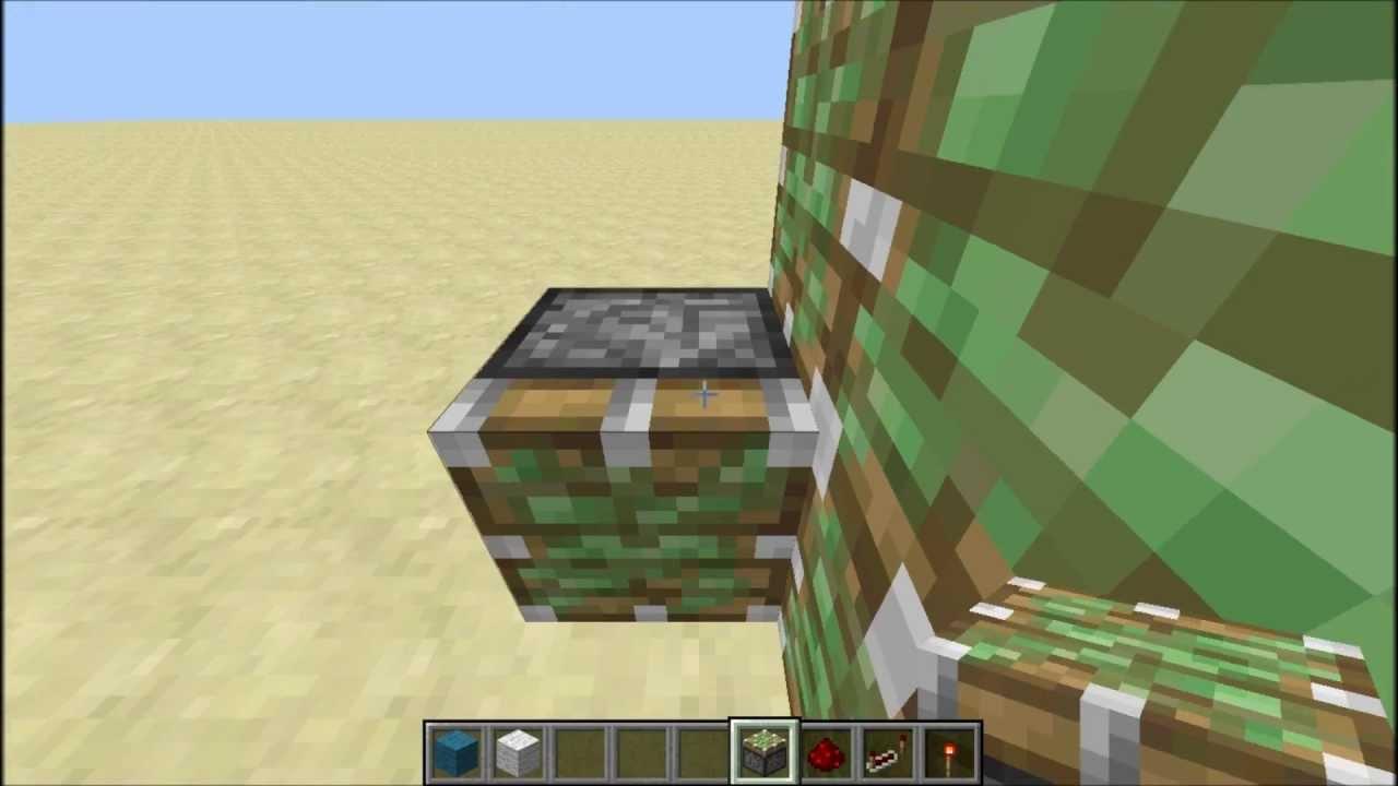 minecraft hidden piston door with button