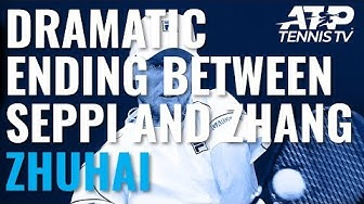 DRAMATIC Ending As Andreas Seppi Saves FIVE Match Points To Beat Zhang! | Zhuhai Championships 2019