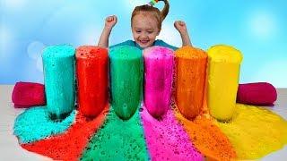 Aprende colores con espuma de color - aprender junto con Nastya