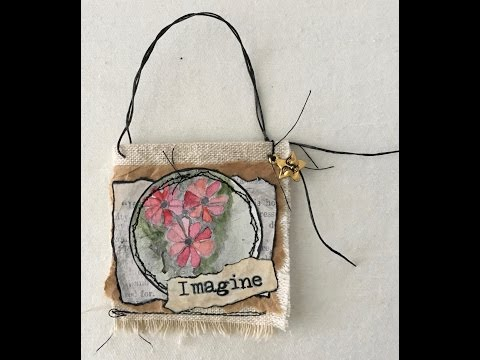 Altered Book Pocket, Holiday Ornament, Gift Tag: #GinaBAhrens Dec Design Team Challenge