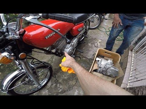 Motor Original Varetado  na Cg Bolinha 78 Vale a Pena? Lavei a mobi e a Cg!!