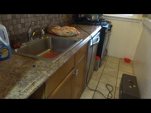 no water flow to kitchen faucet and dishwasher