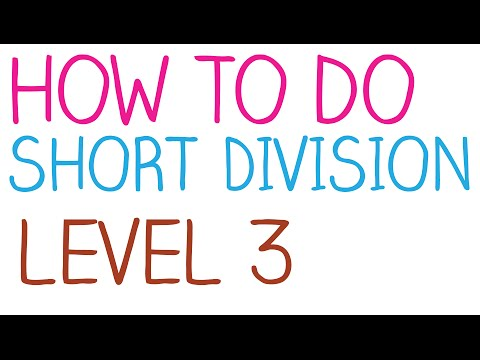 How to do Short Division - Level 3