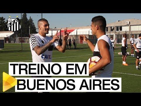 LIBERTADORES 2018: Santos FC treina em Buenos Aires