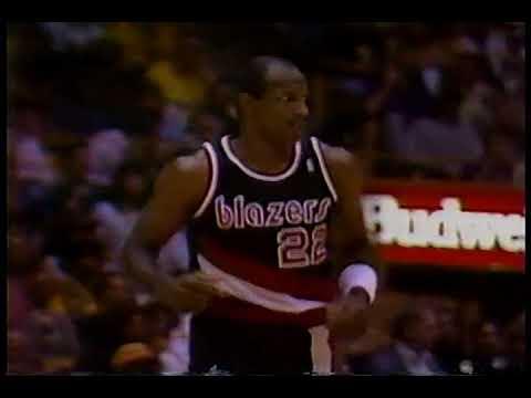 1991 NBA playoffs wcf game 4 Portland Trail blazers-Los Angeles Lakers