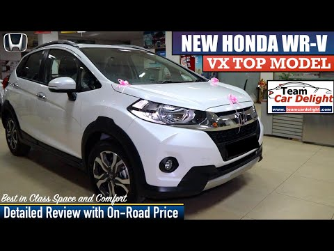 New Honda WRV VX Detailed Review,On Road Price,Interior,Features | WRV Top Model 2019