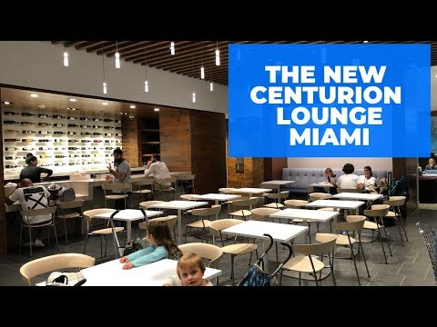 NEWLY Renovated Amex Centurion Lounge Miami - EXCELLENT