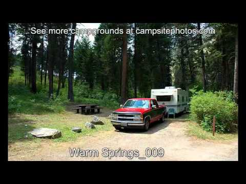 Warm Springs Campground, Bitteroot National Forest, Montana Campsite Photos