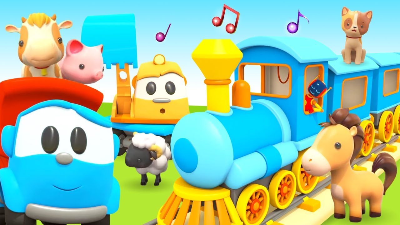 Sing with Leo the Truck! Animals' train song for preschoolers. Cool animation & cartoons.