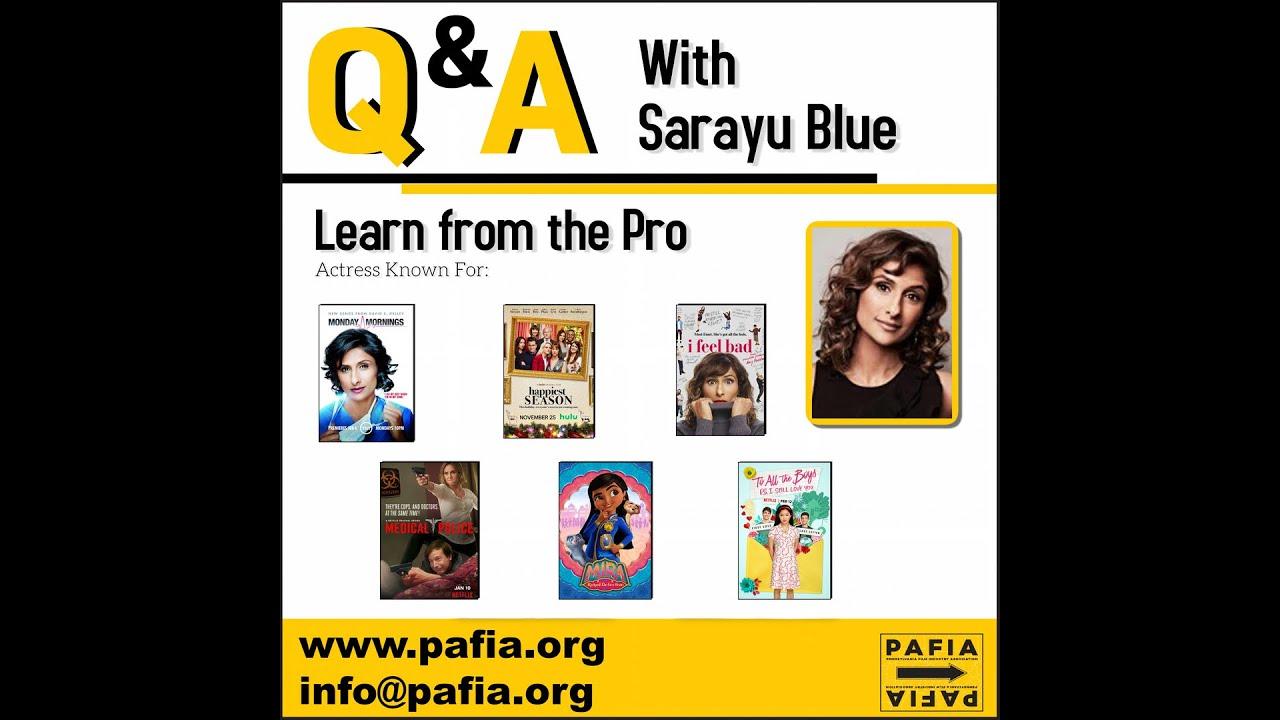 Masterclass with actress Sarayu Blue