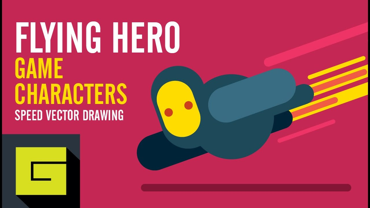 Speed Drawing How to draw Game Character Flying Hero