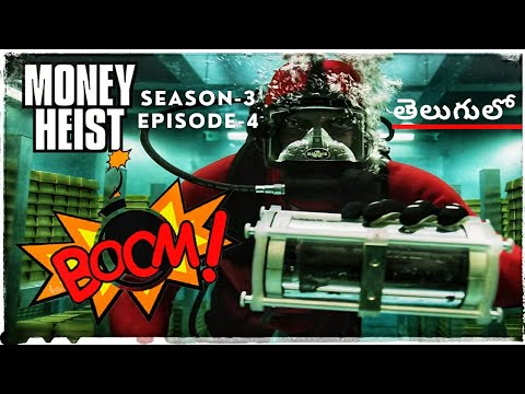 Download Money Heist Telugu  Season3 Episode4  Money Heist Explained in Telugu  LaCasa De Papel Spanish Drama