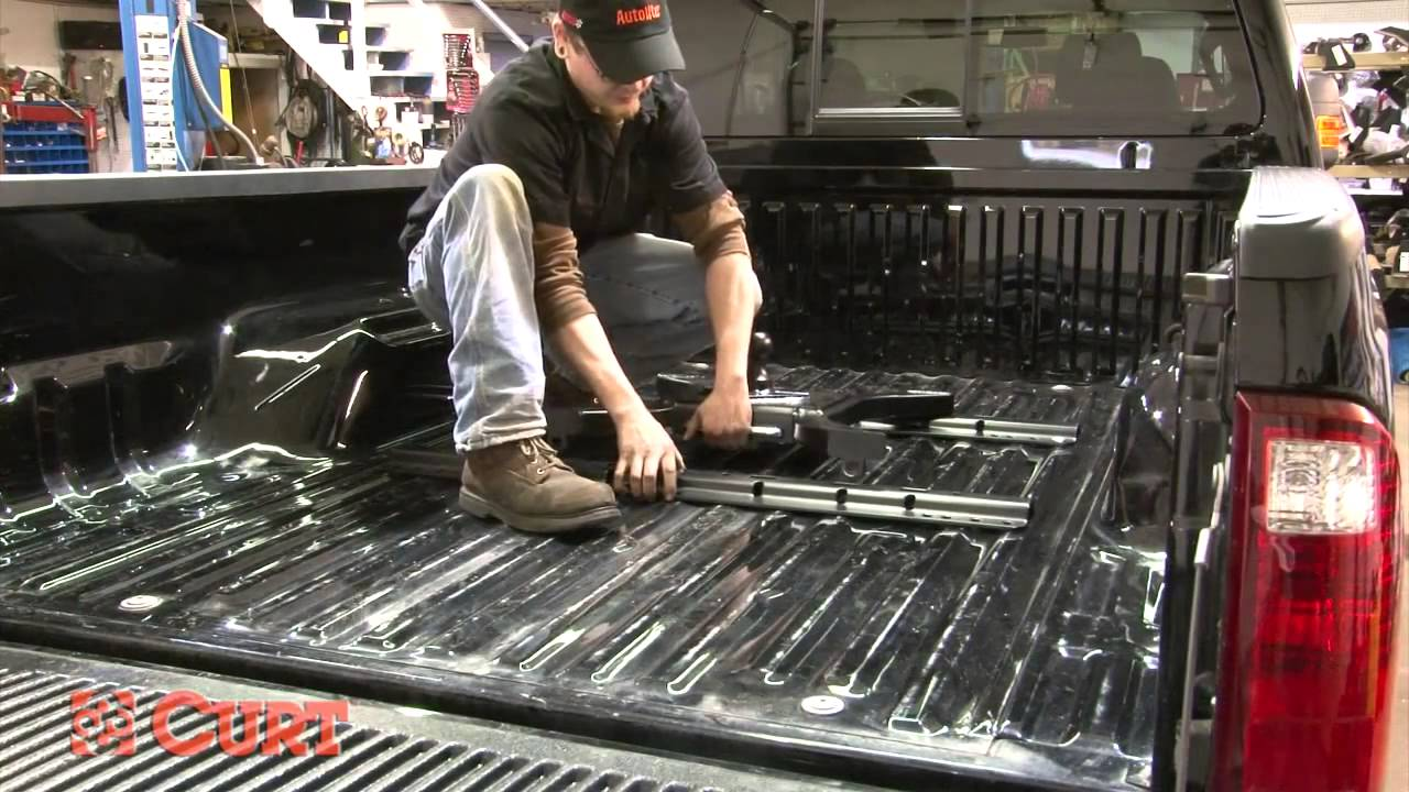 hight resolution of 5th wheel hitch installation curt 16448 for 2005 2012 ford f 350 youtube