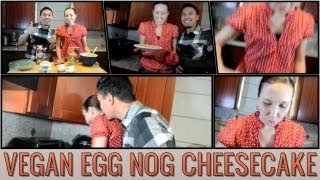 Vegan Egg Nog Cheesecake