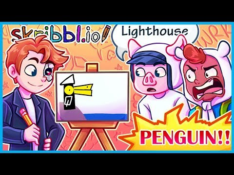 IS IT A PENGUIN OR A LIGHTHOUSE...OR A SUBMARINE? (Skribbl.io Funny Moments & Fails)