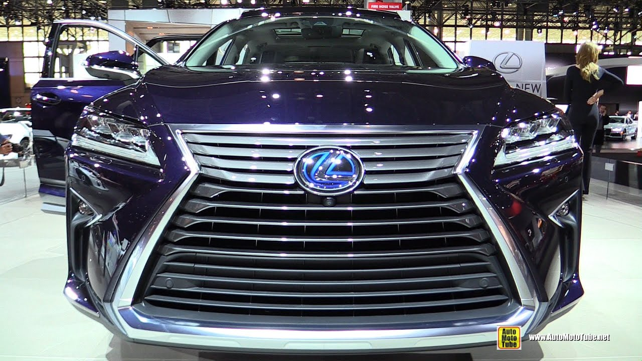 2016 lexus rx450h hybrid exterior and interior walkaround debut at 2015 new york auto show youtube