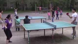 Настольный теннис в Алматы во дворе дяди Казиса