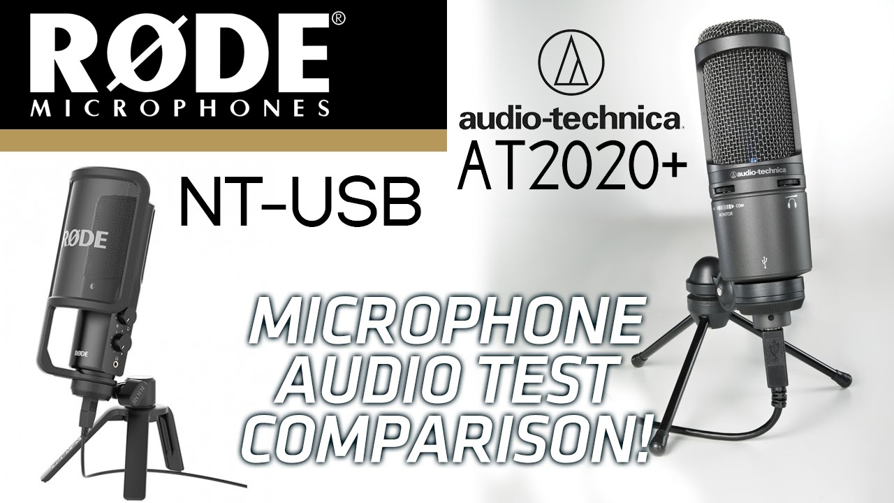 Rode NT-USB vs Audio Technica AT2020 USB+ Microphone Audio Test Comparison! - YouTube