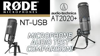 Rode NT-USB vs Audio Technica AT2020 USB+ Microphone Audio Test Comparison!