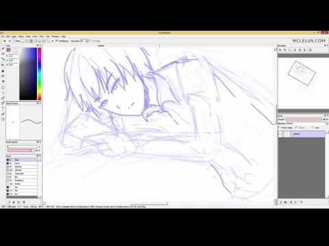 Lets Quickly Sketch A Manga Character lying down