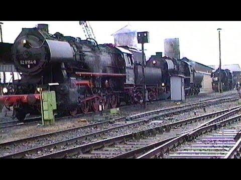Dampfbetrieb wie zu Reichsbahnzeiten im Bw Salzwedel / April 1994