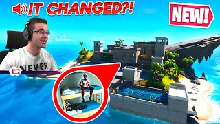 Nick Eh 30 reacts to NEW secret MAP CHANGE in Fortnite!