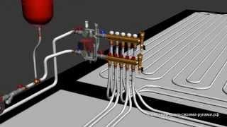 видео Водяной теплый пол в бассейне, устройство, монтаж и эксплуатация