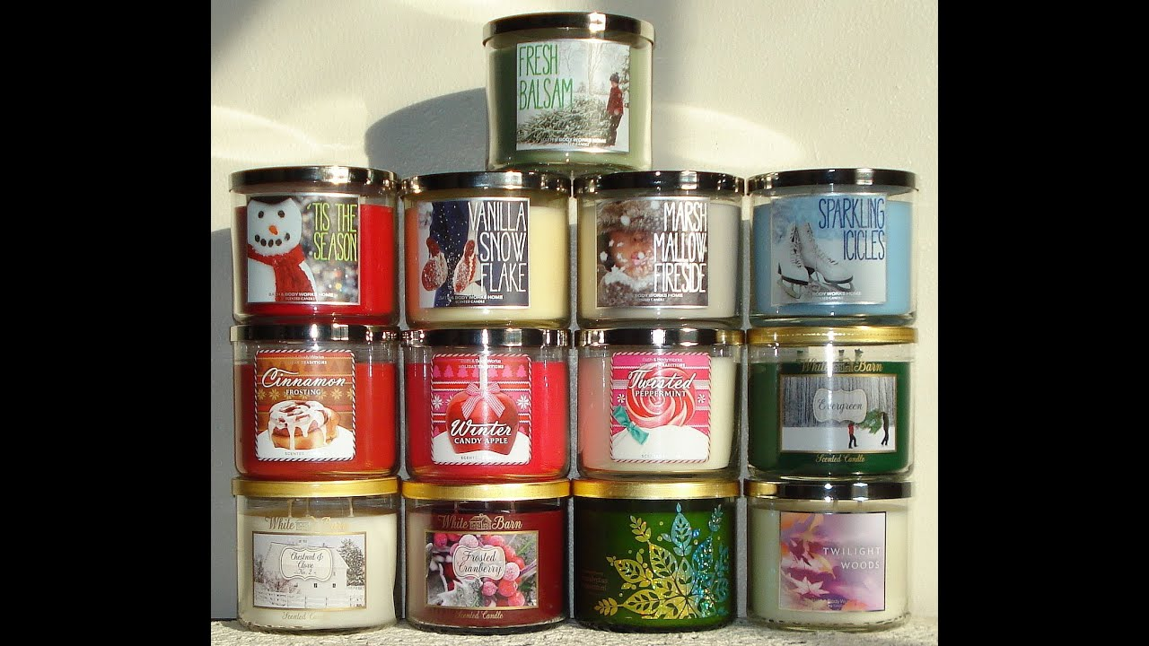 Bath and body works holiday scents - Bath And Body Works Candle Haul Review Pt 2 2013 Winter Holiday Candles Collection 11 5 13 Youtube