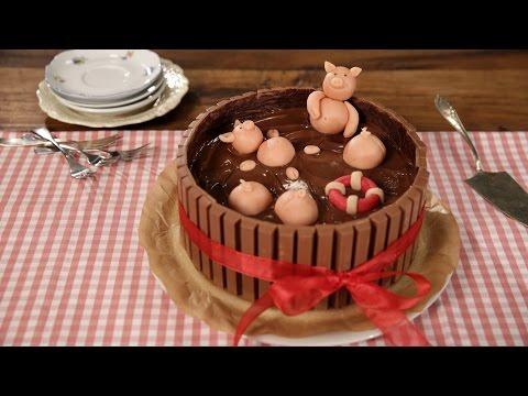 """Die """"Schweinchen im Matschkübel""""-Torte - Leckere Schweinerei - Einfach lecker #chefkoch"""