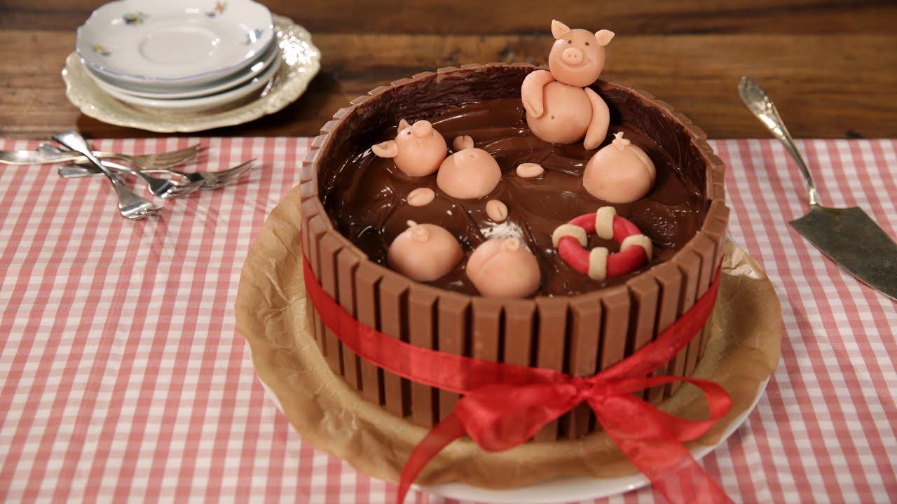 Die Schweinchen Im Matschkubel Torte Leckere Schweinerei
