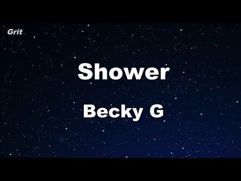 Shower – Becky G Karaoke 【No Guide Melody】 Instrumental