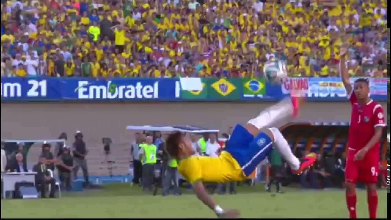 Neymar Amazing Bicycle Kick Brazil Vs Panamá 4 0 Friendly 03 06 14