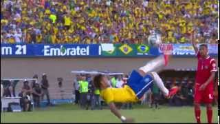 Neymar Amazing Bicycle Kick Brazil vs Panamá 4-0 Friendly 03-06-14