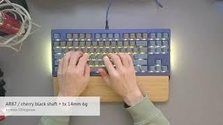 [키보드쇼팽] 앱코 AR87 / 체리 흑축 62g / …