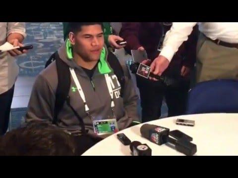 NFL Combine Update Jason Fanaika Utah On #NFLCombine Experience