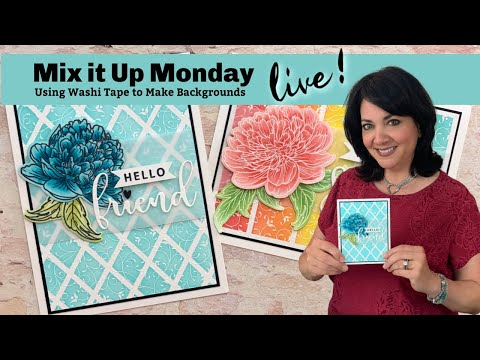 Stamp And Chat- Mix It Up Monday- Using Washi Tape To Make Backgrounds