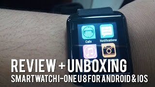 Review + Unboxing: Smartwatch I-One U8 for iOS and Android Harga 150rb-an!