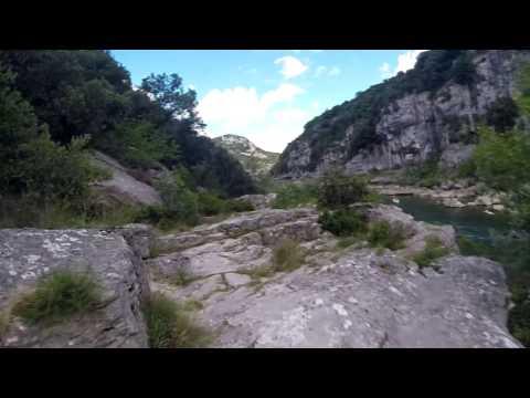randonnée ardeche Vallon pont d'arc à St Martin d'ardeche (35kms en 2jours)