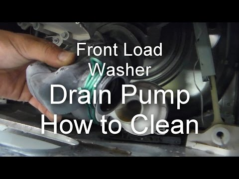 Front Load Washer Repair - Not Draining or Spinning - How to ...