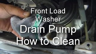 Front Load Washer Repair - Not Draining or Spinning - How to Unclog the Drain Pump thumbnail