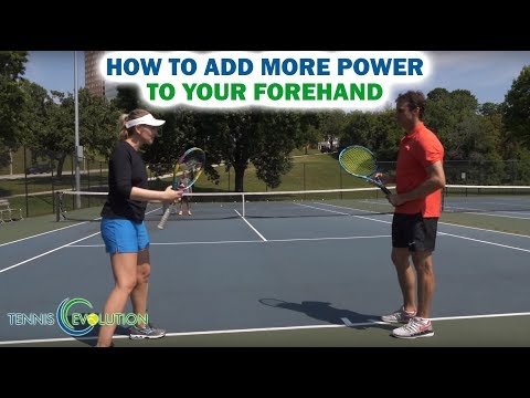 How to Add more Power To Your Forehand | Online Tennis Video