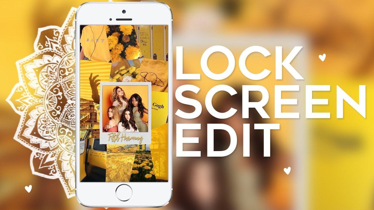 tutorial lockscreen edit - aesthetic || Tutorial Edits