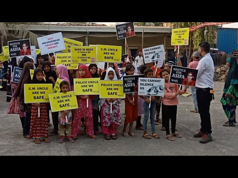 Justice For Asifa   candel march Cheeta Camp