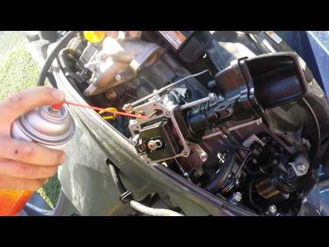 15 minute Carburetor Cleaning Rebuild Yamaha 20HP outboard 4-stroke