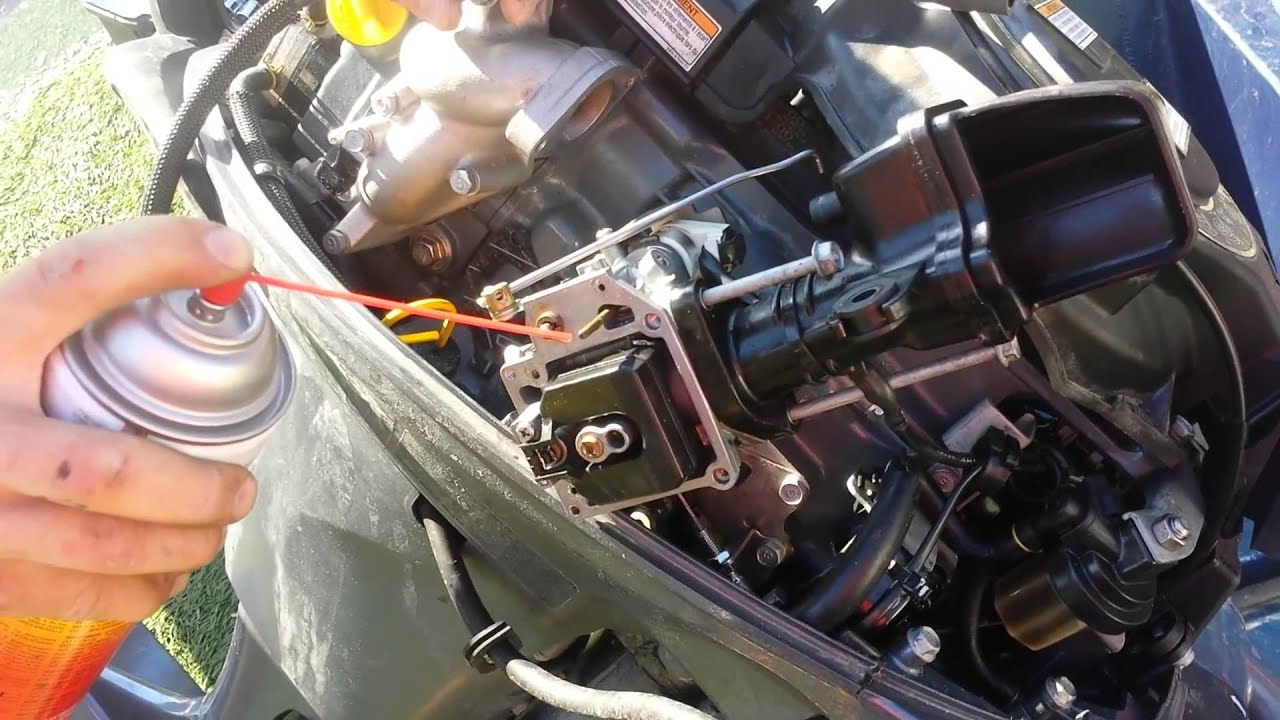 small resolution of 15 minute carburetor cleaning rebuild yamaha 20hp outboard 4 stroke youtube
