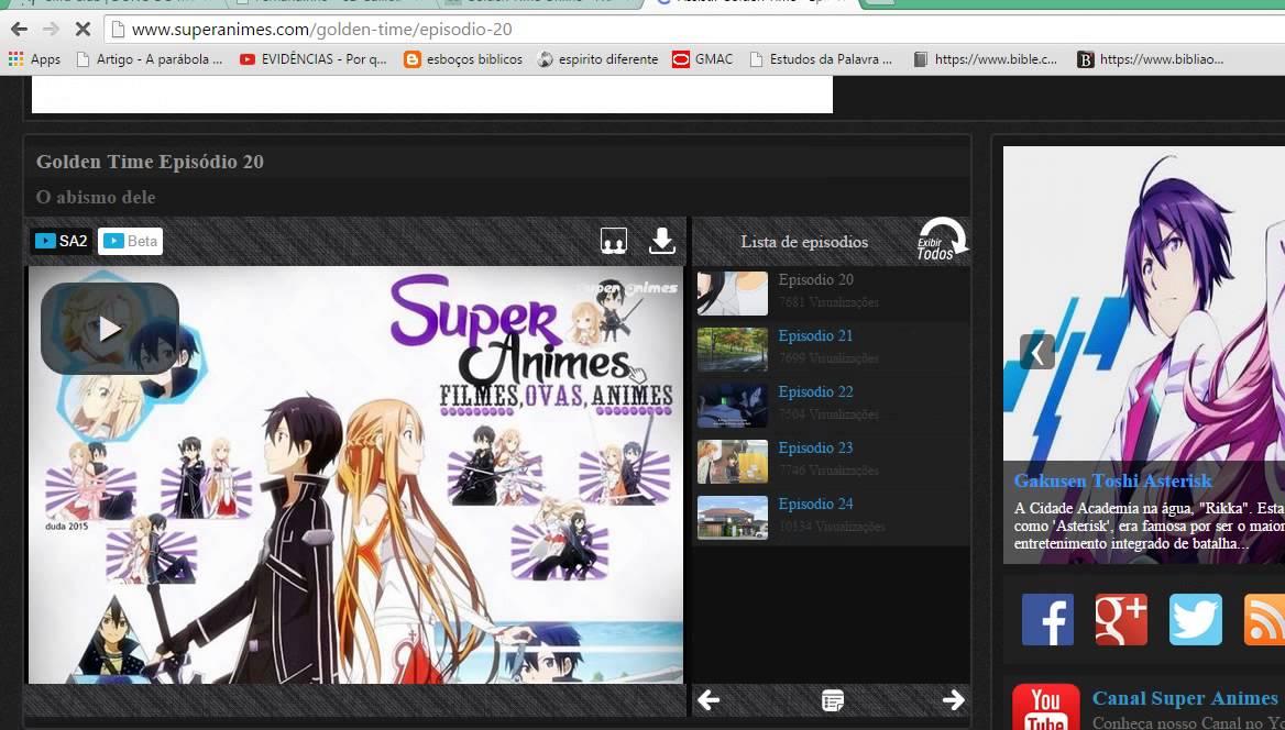 problema no super animes e em outros site de animes