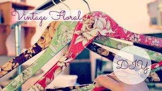 Diy Vintage Floral Decoupage Clothes Hangers