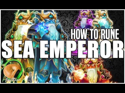 SUMMONERS WAR: How To Rune Sea Emperor (Poseidon, Okeanos, Triton, Pontos, Manannan)