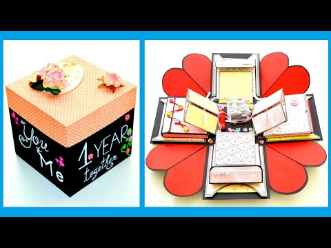 DIY Paper Crafts   Picture Explosion Box Card   Memory Exploding Gift Box